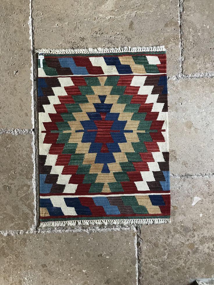 bohemian style vintage small turkish kilim rug door mat carpet handmade rug wool rug on boho chic kitchen rugs id=29989