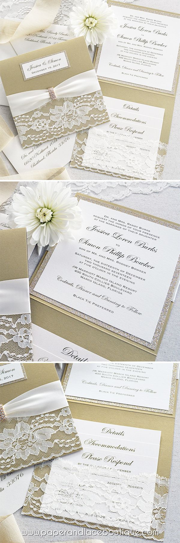 96 Best Paper Lace Invitations And Stationery Images On Pinterest