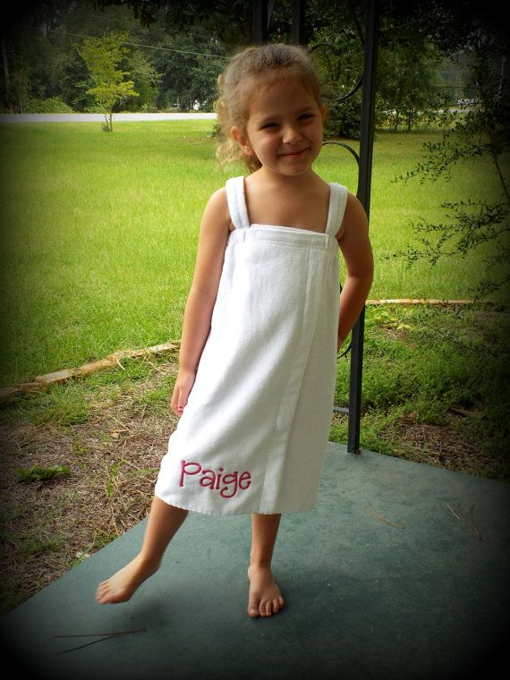 Child's Personalized Spa Towel  Wrap by CuteNClassyMonograms, $32.95