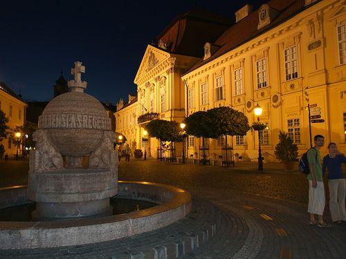 The Main Square of Székesfehérvár.