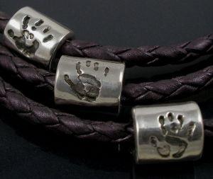 Footprint or Handprint Bead (fits pandora)