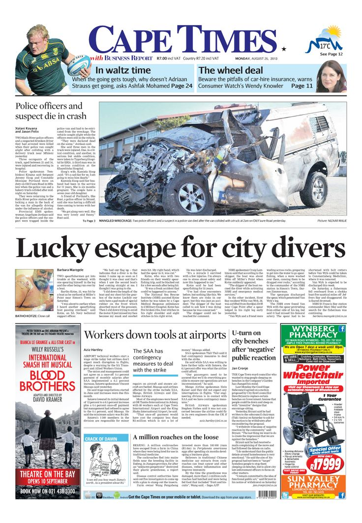 News making headlines: Lucky escape for city divers