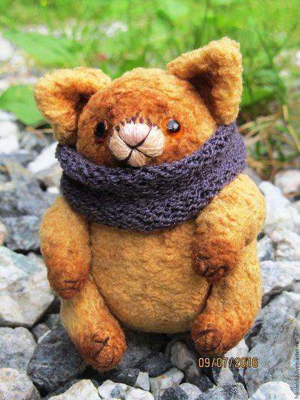 Купить или заказать на Ярмарке Мастеров, игрушка ручной работы, кот тедди, рыжий кот, teddy bear, handmade, игрушка в подарок, плюшевая игрушка, винтажный плюш, СССР