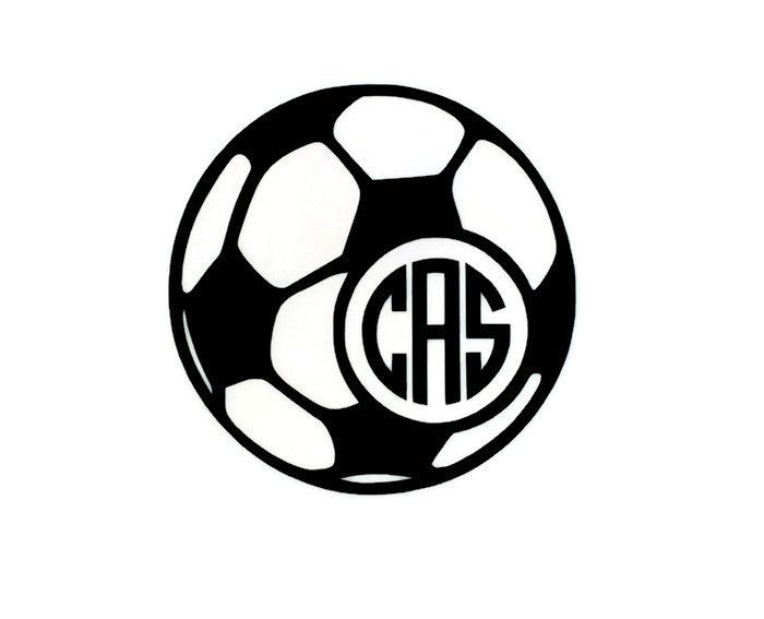 Soccer Ball Monogram Vinyl Decal By The Initialed Life