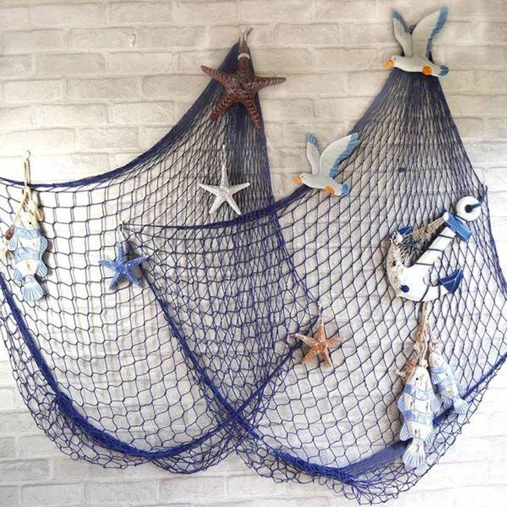 Yeni Geliş Akdeniz Style Dekoratif Denizcilik Balıkçılık Balon Net Beach Scene…