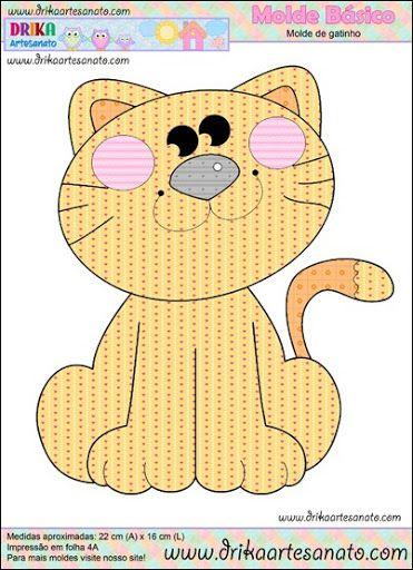 Patchwork moldes gatinho para patch aplique - Drika Artesanato - O seu Blog de Artesanato.