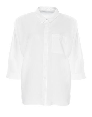 Lässige Bluse mit klassischem Kentkragen und Dreiviertelarm von OPUS. Das coole Design im Oversize-Look aus weichem Baumwollmaterial wirkt besonders modern zur Skinnyjeans.