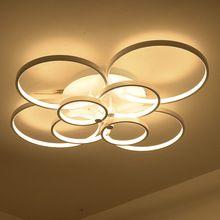 Süper-ince Circel Yüzük Modern led tavan avize lamba oturma odası yatak odası modern led tavan avize ışıkları fikstür