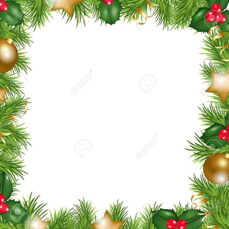 holiday border template