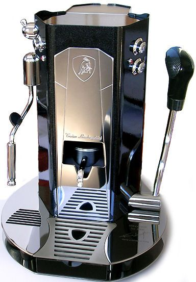 Tonino Lamborghini coffee machine. Love this machine got to actually pull an espresso shot once on a large brass machine.