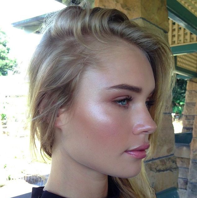 """Strobing. This is """"new""""? I have been using my highlighter like this for year now. Ha! I am finally ahead of the trend. Never did the whole contouring thing, I don't have ages to put makeup on."""