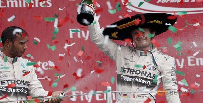 ROSBERG WINS IN MEXICO A WEEK AFTER TITLE DEFEAT.... See More http://goo.gl/EKusHP