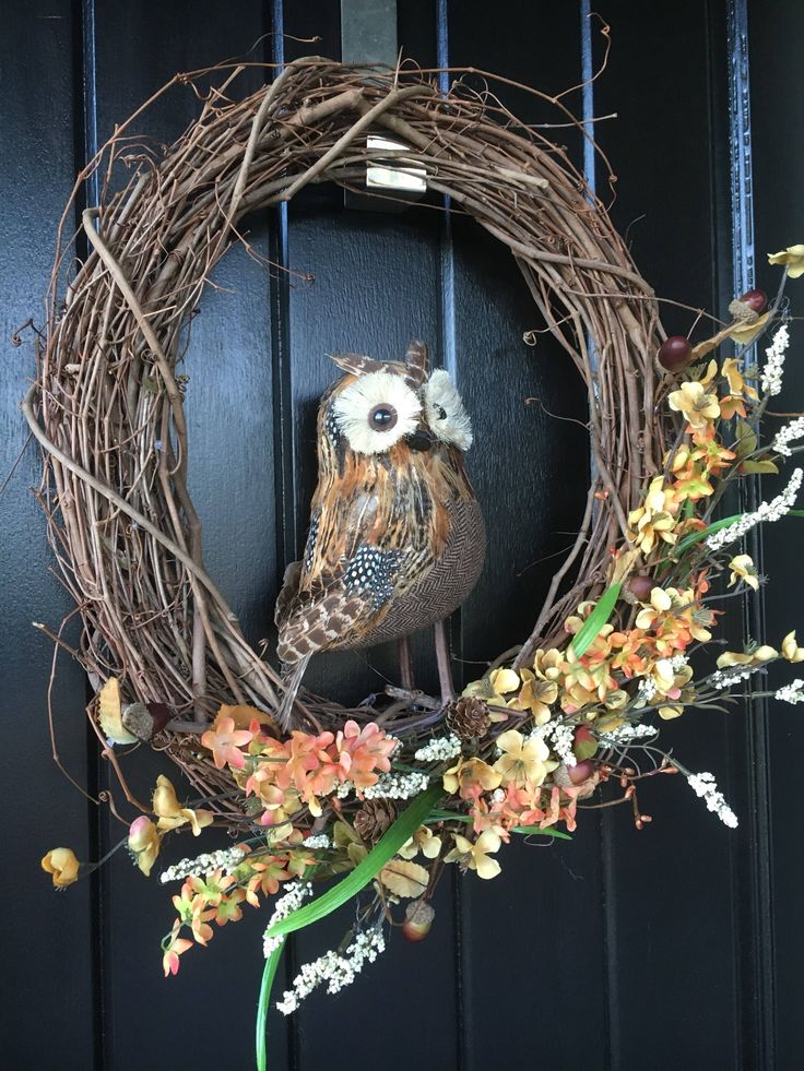A personal favorite from my Etsy shop https://www.etsy.com/ca/listing/536963608/fall-wreath-owl-wreath-back-to-school