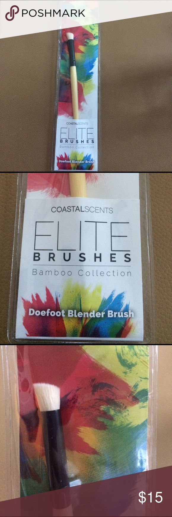 Coastal scents blender brush NWOT elite brush doefoot blender brush coastal scents Makeup Brushes & Tools