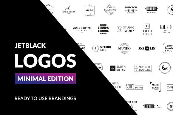 30 Premade Logos – Minimal Edition by AgataCreate on @creativemarket
