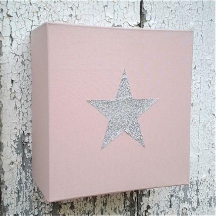 Applique-chambre-fille-rose-étoile