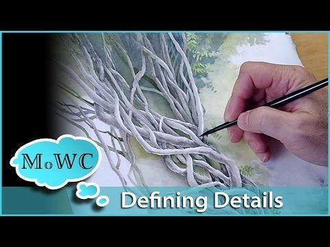 Painting a Watercolor Landscape, Spontaneous Painting with Spatter - YouTube