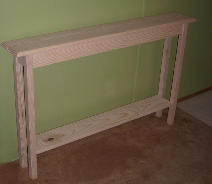 extra narrow hallway table