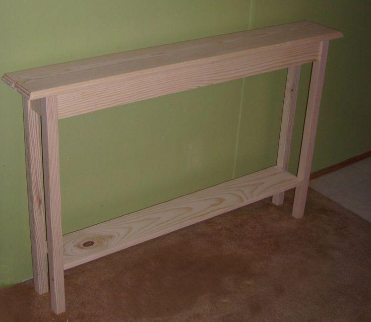 extra narrow hallway table