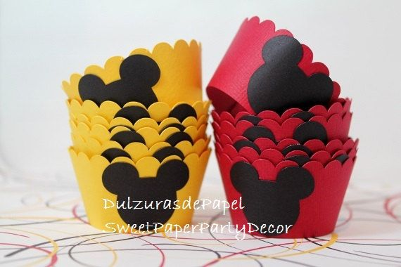 Mickey Cupcake wrappers Mickey cupcake by SweetPaperPartyDecor