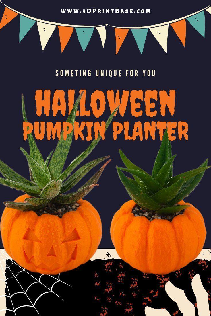 Halloween Planter Pumpkin Decorations 3d Printed Planters Air