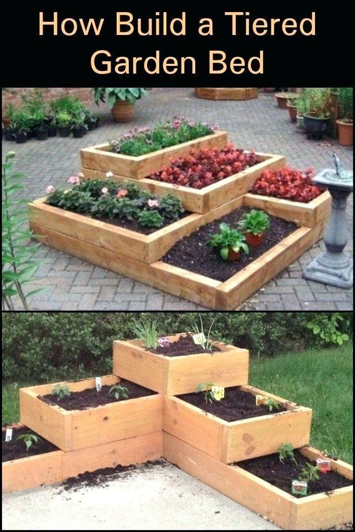 Multi Level Raised Bed Tiered Garden Damit Kurze Und Breite Grundstucke Bed Breite In 2020 Raised Garden Beds Diy Pallet Projects Garden Pallet Garden Box
