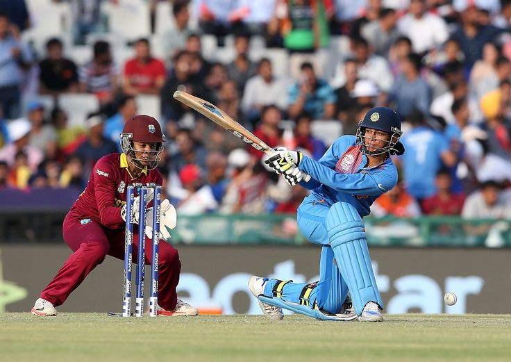 Smriti Mandhana plays the sweep, India v West Indies, Women's World T20 2016, Group B, Mohali, March 27, 2016. The match was won by West Indies who made 114/8 in 20 overs. But India could make only 111/9 in 20 overs.