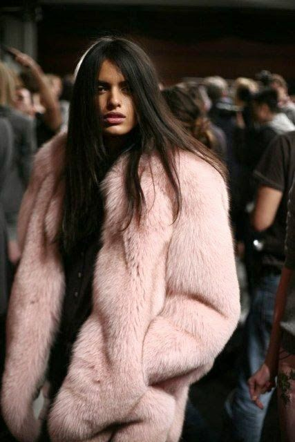 Blush faux fur