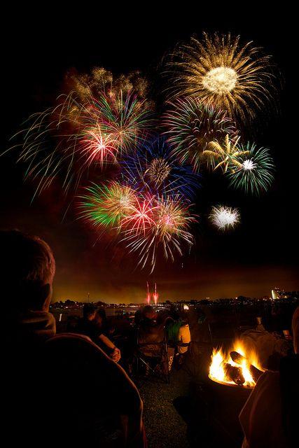 Mission Bay Fireworks - 4th of July by Daniel Peckham, via Flickr