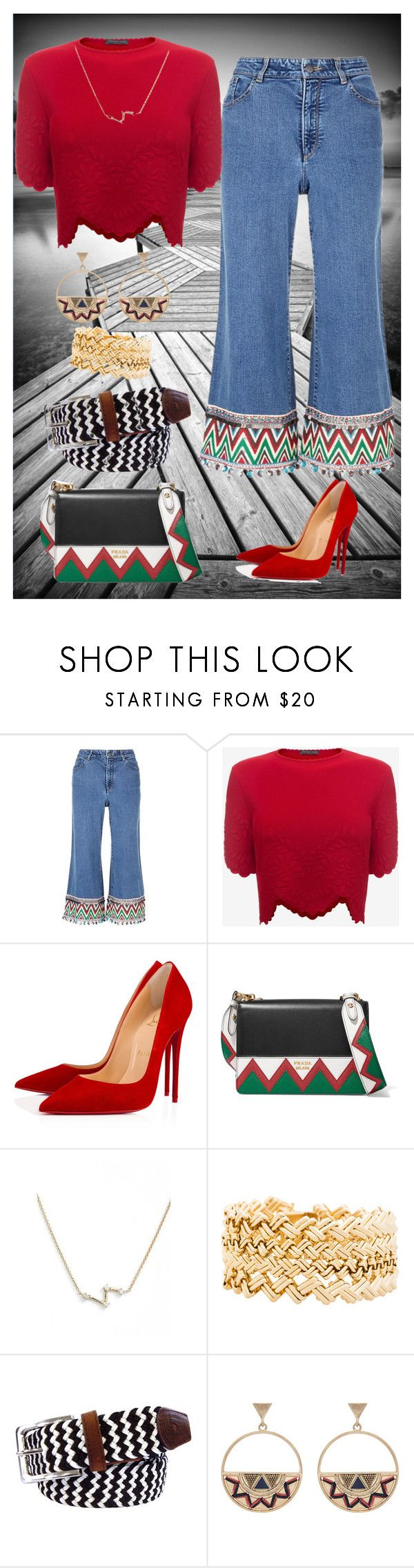 """Untitled #56"" by heinemac ❤ liked on Polyvore featuring Alice + Olivia, Alexander McQueen, Christian Louboutin, Prada, Dana Rebecca Designs, Janis Savitt, Tyler & Tyler and Accessorize"