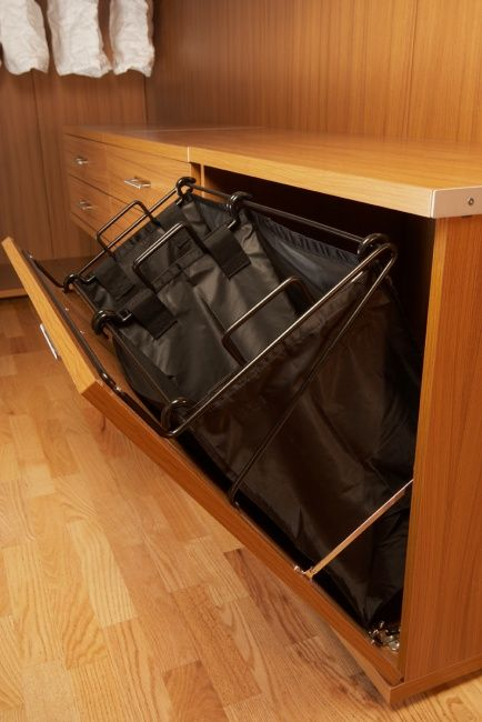 Built-in Laundry Hamper California Closets  |  WoodworkingNetwork.com