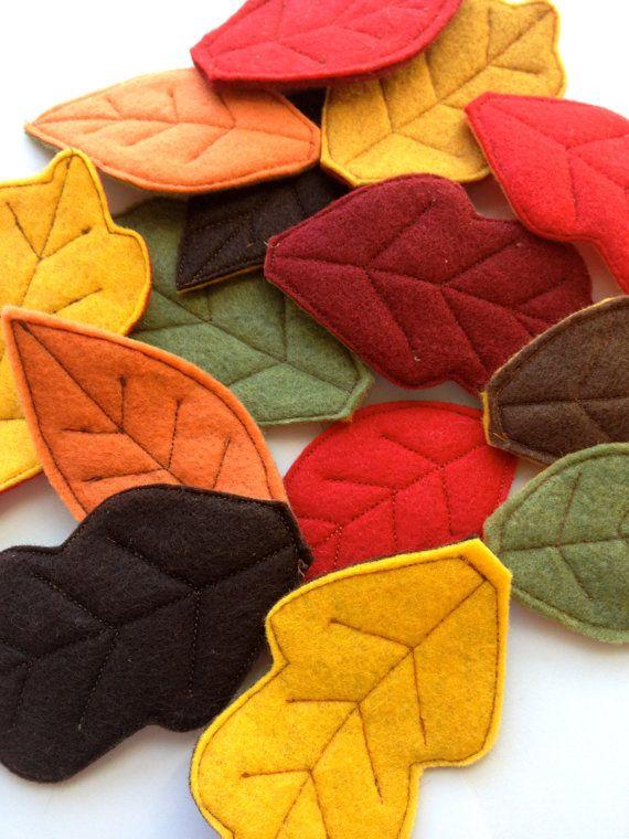 Fall Felt Leaves Felt Leaf Confetti Autumn by whiteblossomboutique