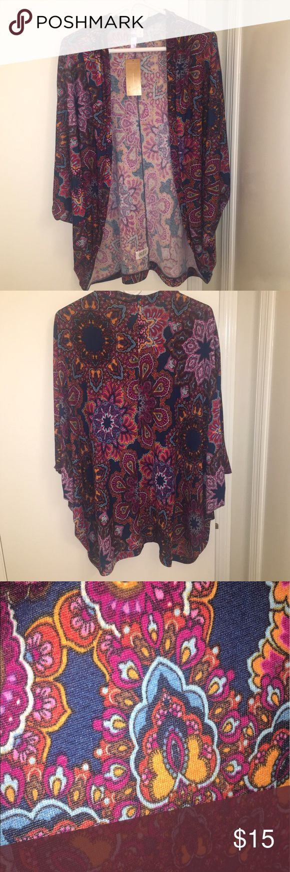 Francesca's multi color open cardigan NWT. Francesca's multi color open cardigan. Size S. Francesca's Collections Sweaters Cardigans