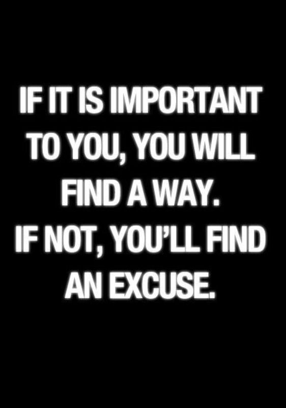 "SO TRUE! Hate when people say ""I can't _______"" I just want to say, ""NO, you CHOOSING not to"" People make time and money for what they want... or they make excuses!"