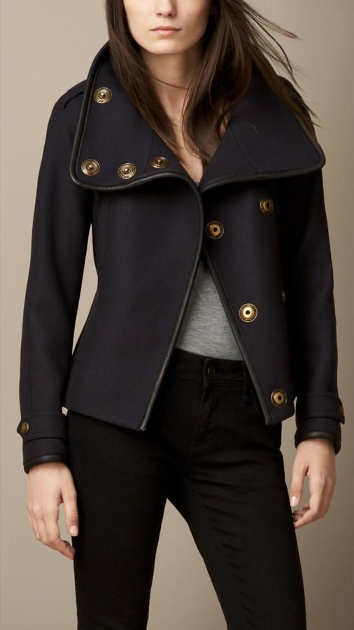 Burberry Wool Blend Twill Wrap Jacket on shopstyle.com
