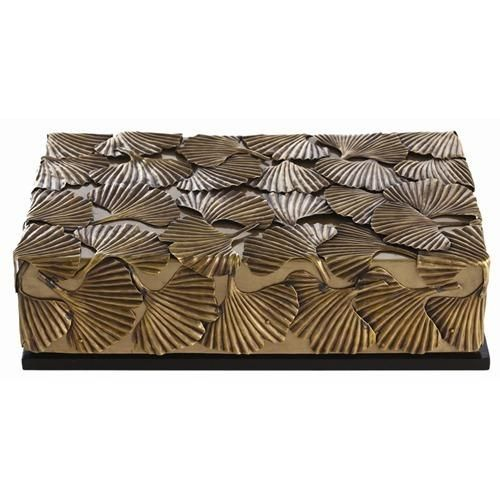 Pru Brass/Wood Lidded Box   Arteriors | Domino.com · Vintage WoodStorage  BoxesContemporary Decorative ...