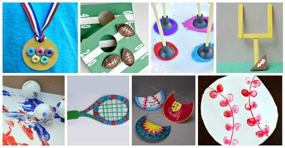 These 25 Sports Themed Crafts for Kids will make your kids cheer. You'll have a 'ball' crafting with these. Have fun!