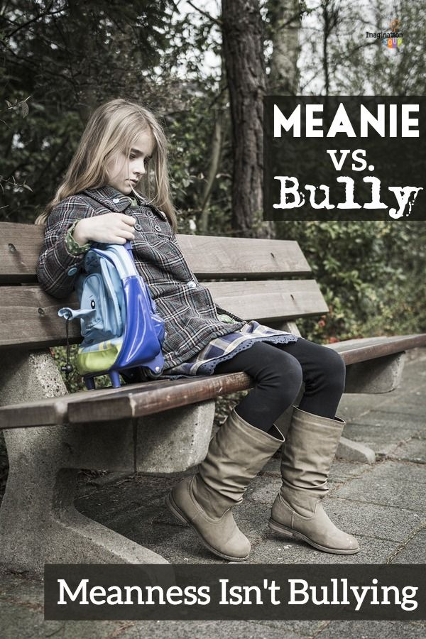 When someone calls your kid stupid, it IS NOT BULLYING. Mean and bullying are different and here's why . . . http://imaginationsoup.net/2014/10/what-is-bullying-meanie-bully/