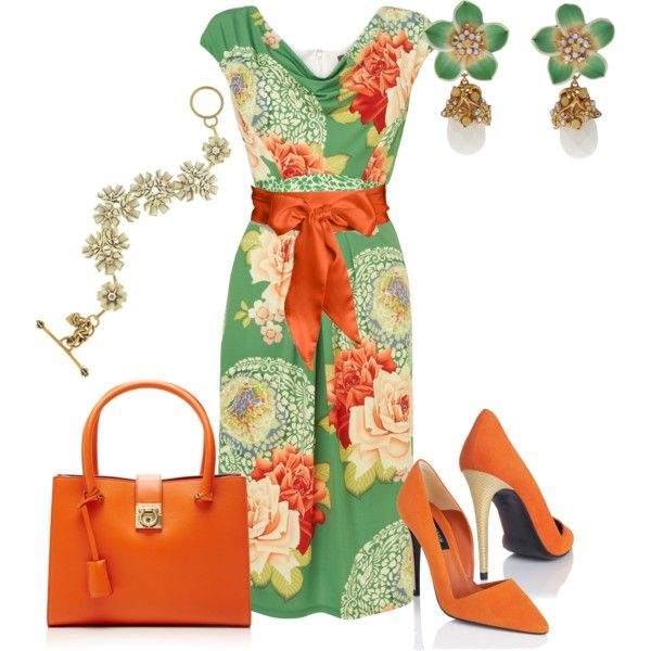 A fashion look from September 2013 featuring Phase Eight dresses, L.K.Bennett pumps y Salvatore Ferragamo tote bags. Browse and shop related looks.