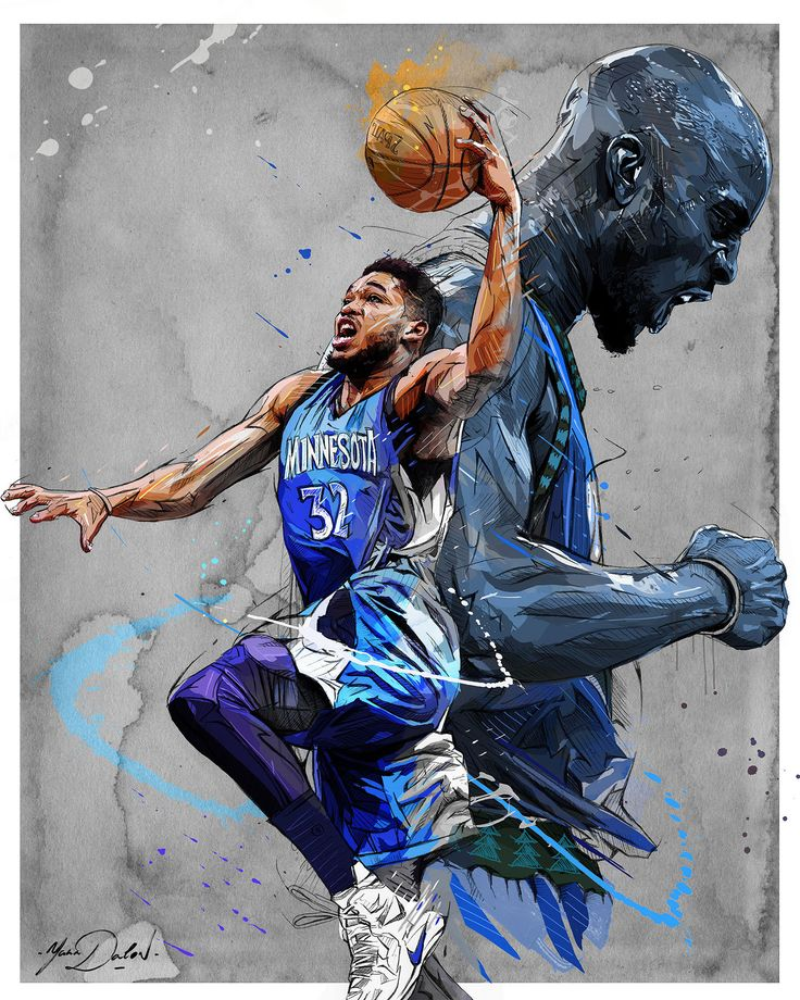 My personal project: illustrate NBA players, Legends of past/present/future.