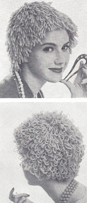 Pattern Wig Hat Yarn Hair Loss Chemo: Vintage Halloween, Patterns ...