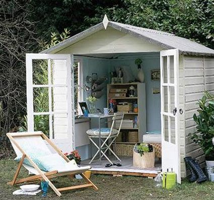 Created Creative space for creatingIdeas, Outdoor Offices, Art Studios, Backyards Studios, Offices Spaces, Crafts Room, Gardens, Outdoor Sheds, Home Offices
