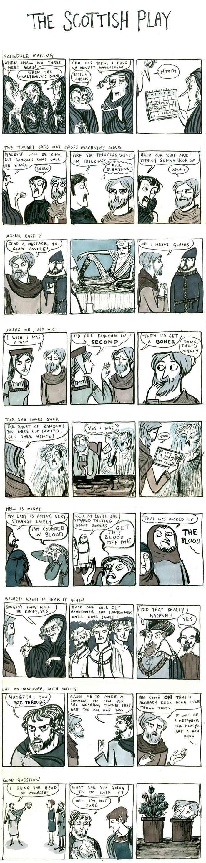top 25 ideas about macbeth william shakespeare shakespeare william macbeth comic some editing needed but it s pretty hilarious and dead on to