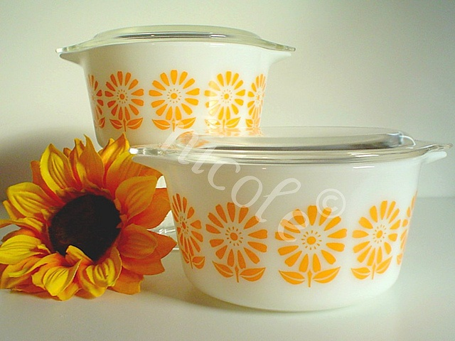 Golden Sunflower Pyrex