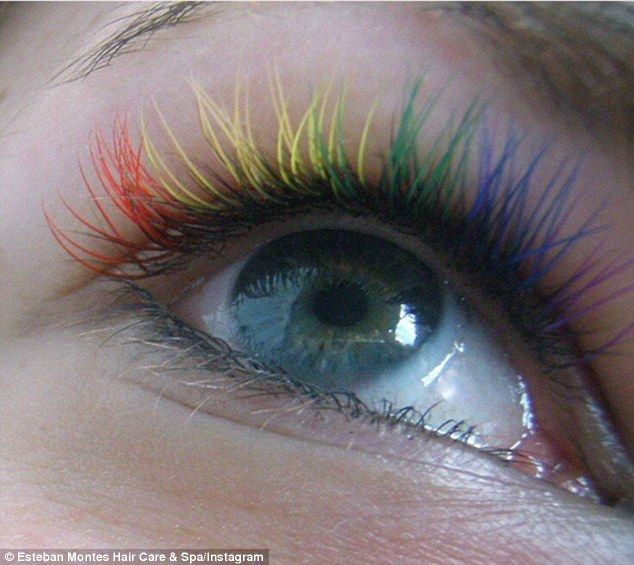 Longer lasting: For a semi-permanent look, some beauty salons can do coloured eyelash exte...