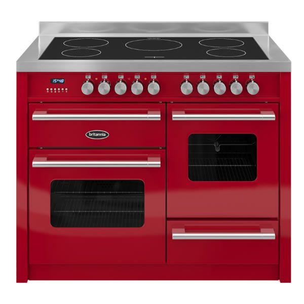Britannia DELPHI RC11XGIDERED 1100mm Twin Electric Range Cooker Induction Hob Red http://www.MightGet.com/january-2017-13/britannia-delphi-rc11xgidered.asp