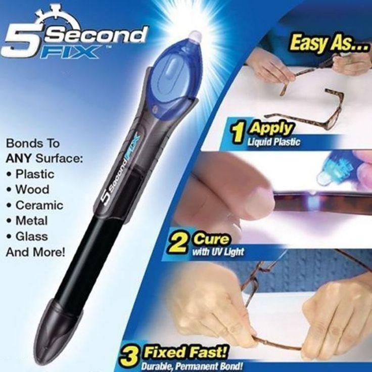 1 UNID 5 Segunda Fix Líquido UV Light Repair Tool Con Pegamento Super Potencia De Soldadura De Plástico Compuesto