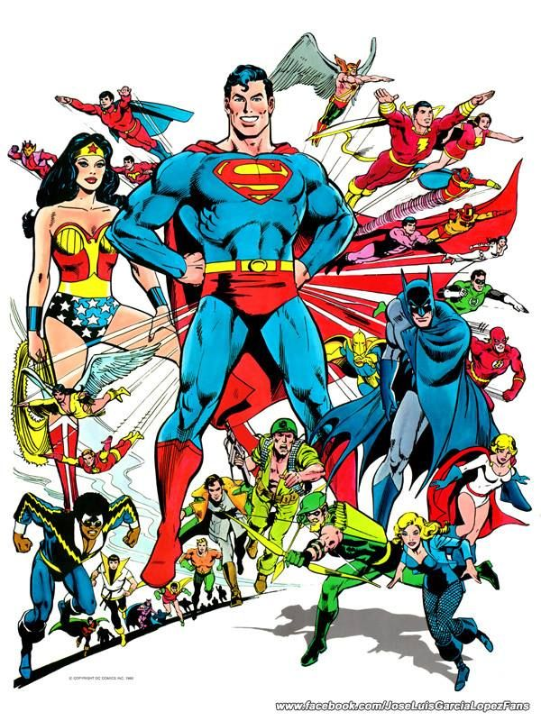 Superman and the DC heroes