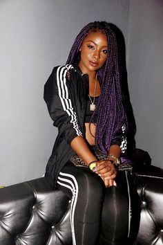 ***Try Hair Trigger Growth Elixir*** ========================= {Grow Lust Worthy Hair FASTER Naturally with Hair Trigger} ========================= Go To: www.HairTriggerr.com =========================    I'm Digging These Purple Box Braids!