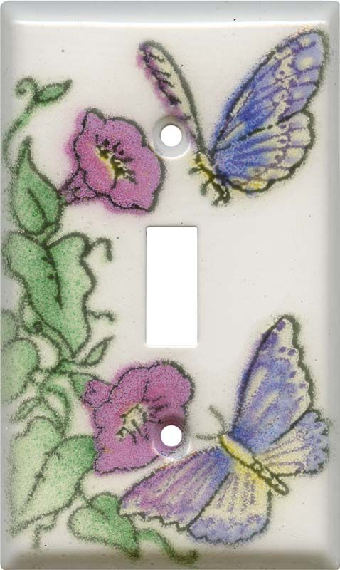 32 best ceramic switch plate covers images on Pinterest  Butterflies, Light switch plates and